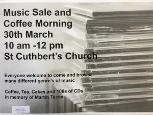 Music Sale & Coffee Morning - St Cuthberts Church