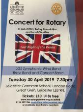 Concert for Rotary - Leicester Grammar School